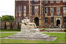 TQ1773 : Statue at Ham House, Surrey by Peter Trimming