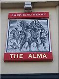 TQ7369 : The Alma, Pub Sign, Strood by David Anstiss