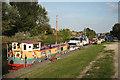SK9571 : Fossdyke houseboats by Richard Croft