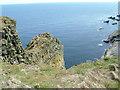 HU4009 : Cliffs below Compass Head by Jim Strang