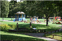 SP0343 : The bandstand, Abbey Park, Evesham by Pauline E