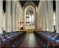 TL8564 : St Edmundsbury cathedral, Bury St Edmunds - view east by Evelyn Simak