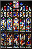 TL8564 : St Edmundsbury cathedral, Bury St Edmunds - Victorian glass by Evelyn Simak
