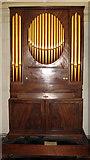 TL8564 : St Edmundsbury cathedral, Bury St Edmunds - chamber organ by Evelyn Simak