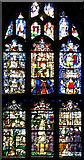 TL8564 : St Edmundsbury cathedral, Bury St Edmunds - C17 glass by Evelyn Simak