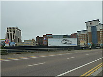 SZ0991 : Advertising hoarding in Lansdowne Road by Basher Eyre