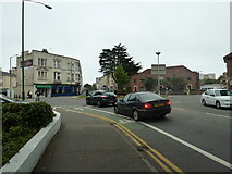 SZ0991 : Approaching a roundabout in Lansdowne Road by Basher Eyre