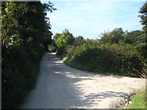 SW7045 : Junction of a bridleway with the Mineral Tramway at Wheal Plenty by Rod Allday