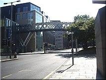 NT2574 : Footbridge over dual carriageway by Stanley Howe