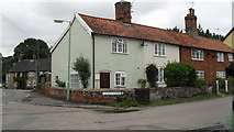 TM4077 : Cottages in Sandy Lane by Basher Eyre