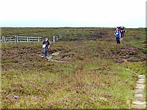 NT8818 : Young Pennine Way walkers at Score Head by Oliver Dixon