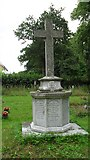 TM4077 : St. Peter, Holton: war memorial in the churchyard by Basher Eyre