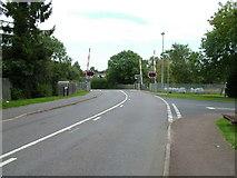 SK8508 : Brooke Road Level Crossing by Jim Strang