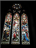 TM2850 : Melton, St Andrew: stained glass window (1) by Basher Eyre