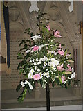 TM2850 : Melton, St Andrew: floral display by Basher Eyre
