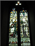 TM2850 : Melton, St Andrew: stained glass window (5) by Basher Eyre