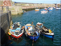 NT6779 : Small Craft at Victoria Harbour, Dunbar by Richard West