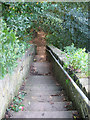 SE0922 : Steps to Huddersfield Road by Stephen Craven