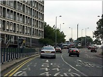 SO9199 : Wolverhampton Ring Road - approaching Stafford Street junction by J Whatley