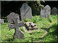SX5646 : Graves at St Peter the Poor Fisherman, Revelstoke by Kate Jewell