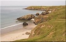 SH2035 : The coastline northwards towards Penrhyn Melyn headland by Eric Jones