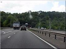 SO5012 : A40 - River Monnow bridge & B4293 junction, Monmouth by J Whatley