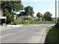 ST4988 : Portskewett : Caldicot Road approaches crossroads by Jaggery
