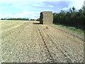 SP7509 : In the stubble near Folly Farm by Roger Templeman