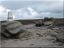 SK0787 : Trig point at Kinder Low by Philip Barker