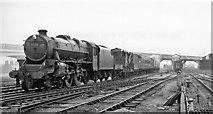 SP8633 : Breakdown train entering Bletchley by Ben Brooksbank
