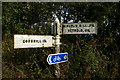 NT8637 : Old Road Sign to Yetholm/Mindrum Mill and Cornhill by Eddie Robertson