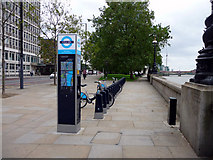 TQ3078 : Cycle Racks, Albert  Embankment, London SE1 by Christine Matthews