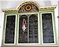 TG2309 : St Helen's Bishopgate, Norwich - Commandment board by Evelyn Simak