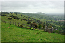 TQ3213 : View west along the downs by Robin Webster