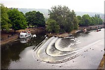 ST7564 : The weir on the River Avon by Steve Daniels