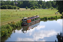 SU9946 : Narrowboat on the River Wey by N Chadwick