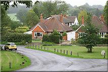 SU7963 : Finchampstead, houses near St James' Church by Brendan and Ruth McCartney