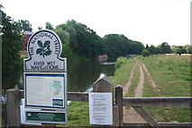 SU9946 : Towpath south along the River Wey by N Chadwick