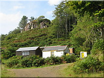 NM4627 : Site of the old school under Dun Scobull by Sarah Charlesworth