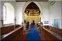 TR1439 : St Mary & St Radegund, Postling, Kent - West end by John Salmon