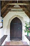 TR1439 : St Mary & St Radegund, Postling, Kent - Porch by John Salmon