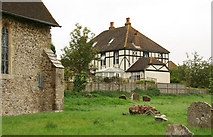 TR1439 : St Mary & St Radegund, Postling, Kent - Churchyard by John Salmon