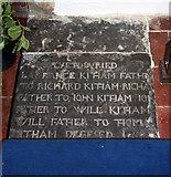 TR1439 : St Mary & St Radegund, Postling, Kent - Ledger slab by John Salmon