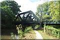 SU9947 : Railway bridge over the River Wey by N Chadwick