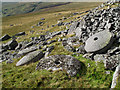 NY9131 : Carr Crags with Millstones by Trevor Littlewood