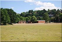 SU9948 : Pavilion, Shalford Park by N Chadwick