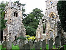 TG2608 : The ruins of St Andrew's church, Thorpe St Andrew by Evelyn Simak