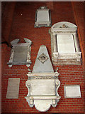 TG2608 : St Andrew's church in Thorpe St Andrew - memorials in tower by Evelyn Simak