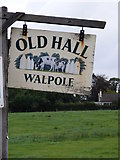 TM3674 : Old Hall Sign by Adrian Cable