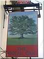 TR0539 : The Royal Oak, Pub Sign, Mersham by David Anstiss